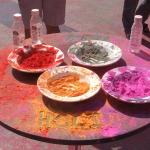 we were there for the Holi celebration. So fun.