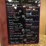 Posted Menu w/ daily specials