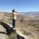 Overlooking the empty lake bed of Salton Lake, Borrego Springs, CA