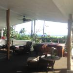 View of lanai~complete with hot tub and ocean view!