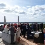 Bubbles & Canapes on the terrace with beautiful views