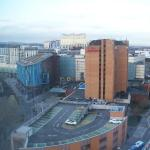 View from 11th floor towards shopping area.