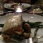 Scottish Salmon, New Potatoes, Green Beans, Sauce Mousseline