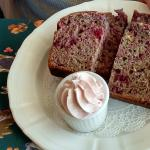 Raspberry breakfast bread with raspberry butter