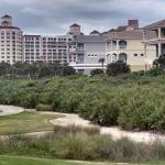 View of resort from 18th hole of Ocean Course