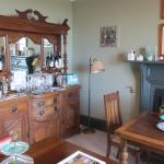 Dining room and honesty bar