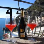 Views from our balcony in Hotel villa franca with blood orange mimosa