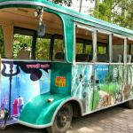 Bus  for Pachmari  Tour at Hotel.
