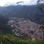 View over Baños from the hotel