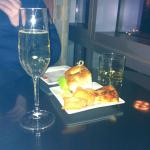 Drinks and snacks in Club lounge