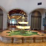 Beautiful fountain in the lobby