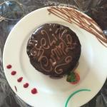 birthday cake surprise from hotel in room