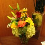 Flowers arranged by Borgata