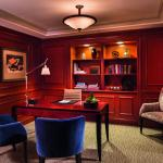 The Presidential Suite study offers a quiet and refined setting that inspires creativity.