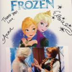Signed book and photo of the princesses with the bracelets