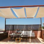 Lounging on the sun deck above Riad Cherrata