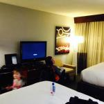 double room, kind of cramped with wheelchair in room