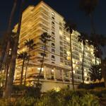 South side of the hotel at night