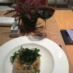 Pumpkin risotto and vino tinto!  18€. Very delicious