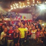 Partying at Banana Bungalow!