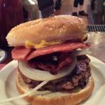 The Taylorham Burger with Bacon
