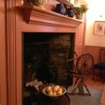 Just one of many fireplaces in this old home.  This is in the room where you have tea.