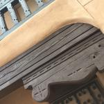 Corbels and Adobe. Beautiful building.