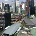 View - Bukit Bintang Monorail from room.