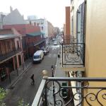 Balcony view up Bienville Street