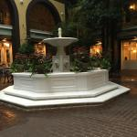 Courtyard fountain near the breakfast bar
