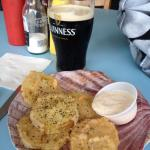 Fried green tomatoes and a Guinness from The Salty Dog.