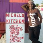 Michele's fresh food with her Jamacian recipes is delicious!