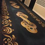 Hallway carpeting (military uniform ribbons)