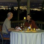 "Dining at night on the terrace of ""Restaurante El Tigre Vestido"""