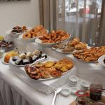 Croissant, cakes and donuts