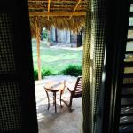 View of patio from inside Laila room