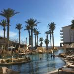 One of the many beautiful pool areas at the Grand Solmar