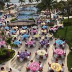 The fiesta festival by the pool