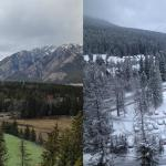 Weather in the mountains can change quickly! Fairmont Banff Springs hotel