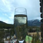 View from our room at the Fairmont Banff Springs hotel