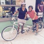 Me and my 10 year daughter with the tandem bike.