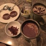 Hot chocolate cup with few cookies!