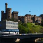 View of Inverness Castle from front of Inn