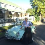 Me and my little Beetle, Lola, love visiting Franschhoek and staying at Avondrood