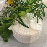 Goats cheese from the hotels dairy