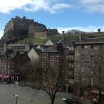 the view of Edinburgh Castle from our suite.