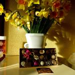 Flowers and chocs in room. A lovely surprise.