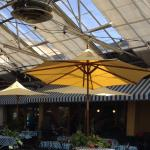 Inside view of the covered dining area.