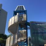 Slide tower for the pool