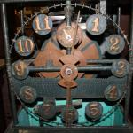 Front view of Water Clock with large and small dial